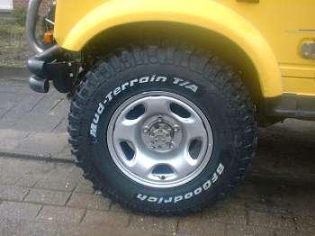 Bf Goodrich Mud Terrain Tires >> suzuki samurai modder banden